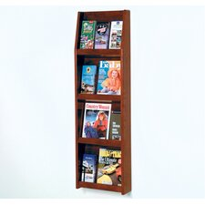 Four Magazine and Twelve Brochure Wall Display with Optional Floor Stand