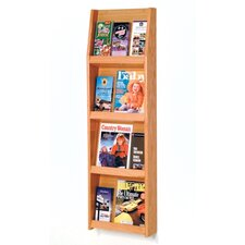 <strong>Wooden Mallet</strong> Four Magazine and Twelve Brochure Wall Display with Optional Floor Stand