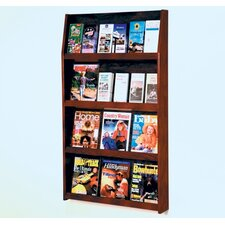 <strong>Wooden Mallet</strong> Twelve Magazine and Twenty Four Brochure Wall Display with Optional Floor Stand