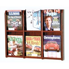 <strong>Wooden Mallet</strong> Six Magazine Oak and Acrylic Wall Display
