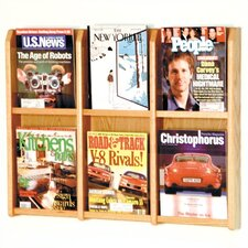 6 Pocket Magazine Wall Display
