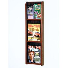 <strong>Wooden Mallet</strong> Three Magazine and Six Brochure Oak and Acrylic Wall Display