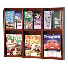 <strong>Wooden Mallet</strong> Six Magazine and Twelve Brochure Oak and Acrylic Wall Display