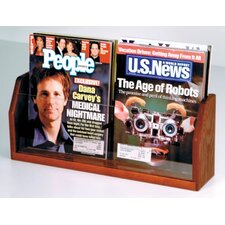 Countertop Two Pocket Magazine Display