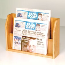 <strong>Wooden Mallet</strong> Countertop Two Pocket Newspaper Display