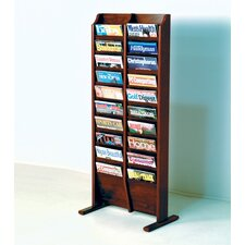 <strong>Wooden Mallet</strong> Free Standing Twenty Pocket Magazine Rack