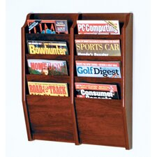 <strong>Wooden Mallet</strong> Eight Pocket Wall Mount Magazine Rack