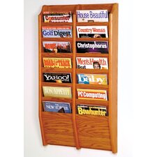 14 Pocket Wall Mount Magazine Rack