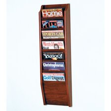 <strong>Wooden Mallet</strong> Seven Pocket Wall Mount Magazine Rack