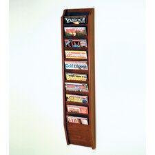 <strong>Wooden Mallet</strong> Ten Pocket Wall Mount Magazine Rack