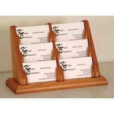 Six Pocket Counter Top Business Card Holder