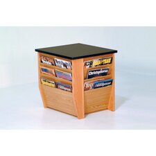 Dakota Wave End Table with Magazine Pockets