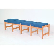 <strong>Wooden Mallet</strong> Dakota Wave Four Seat Bench with Designer Fabric