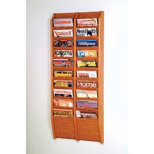 <strong>Wooden Mallet</strong> Twenty Pocket Wall Mount Magazine Rack