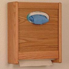 Combo Towel Dispenser and Glove/Tissue Holder