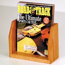 <strong>Wooden Mallet</strong> Countertop Single Pocket Magazine Display