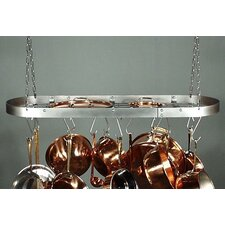 Low Profile Oval Hanging Pot Rack