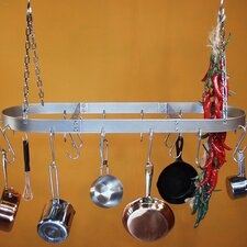 <strong>HSM Racks</strong> Low Profile Oval Hanging Pot Rack
