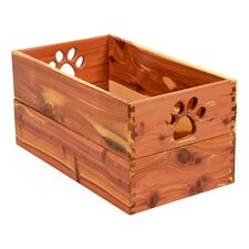 Pet Toy Box in Cedar