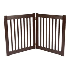 "Two 27"" Panel Free Standing EZ Pet Gate in Mahogany"
