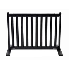 "20"" All Wood Small Free Standing Pet Gate in Black"