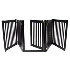 "32"" Walk Through 5 Free Standing Pet Gate in Black"