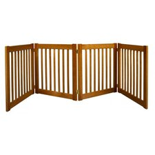 "Four 27"" Panel Free Standing Pet Gate in Artisan Bronze"