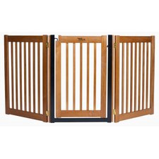 "32"" Walk Through 3 Free Standing Pet Gate in Artisan Bronze"