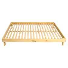 Legacy Outdoor Futon Pet Bed Frame in Solid White Oak