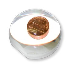 <strong>Carson</strong> LumiDome Polished Ball Loupe with Base in Clear