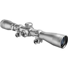 "4x32 Plinker-22 Riflescope, Silver, 30/30, with 3/8"" Rings, Clam"