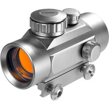 <strong>Barska</strong> 30mm Red Dot Riflescope, Silver Color, 5/8""
