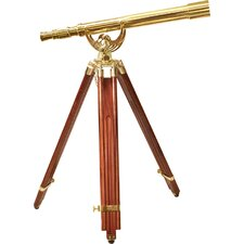 18x50 Scope, Anchormaster Telescopes with Mahogany Floor Tripod