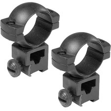 "1"" High Dovetail / Airgun / .22 Style Rings See-through"