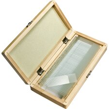 Prepared Microscope Slides 100pcs w/ Wood case