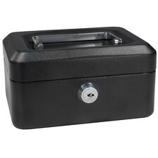 <strong>Barska</strong> Extra Small Black Cash Box with Key Lock