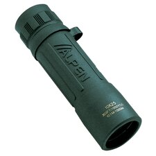 10x25 Green Rubber Covered Monocular