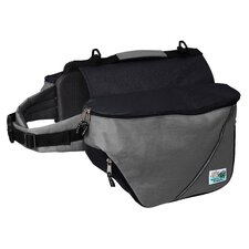 Standard Dog Backpack in Gray and Black