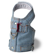 Boutique Blue Jean Jacket Dog Harness