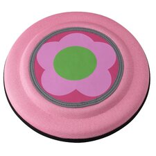 Flying Discs Dog Toy in Pink Flower