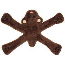Plush Pentas Bear Dog Toy in Brown