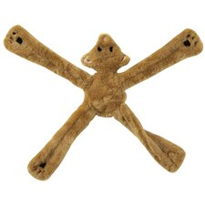 Plush Pentas Bear Dog Toy in Tan