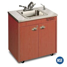 "Silver Lil' 26"" x 18"" Premier Portable Handwashing Station with Storage Cabinet"