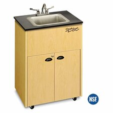 "Premier 26"" x 18"" Single Bowl Portable Handwash Station with Storage Cabinet"