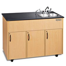 "Advantage 50"" x 24"" 2 Portable Hand Washing Station with Storage Cabinet"