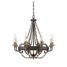 Mallory 8 Light Candle Chandelier