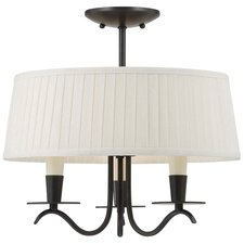 Cooper 3 Light Semi Flush Mount
