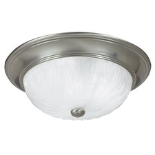 "13"" 2 Light Flush Mount"