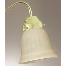 "4.75"" x 5.38"" Ceiling Fan Light Glass Shade in Cream"