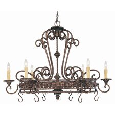 Cannon 6 Light Hanging Pot Rack